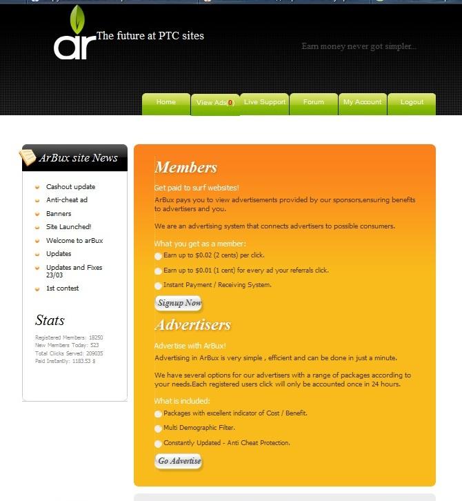 Arbux.com - перспективный новичок на скрипте Gen4